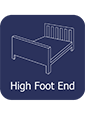 High Footend Wooden Frame