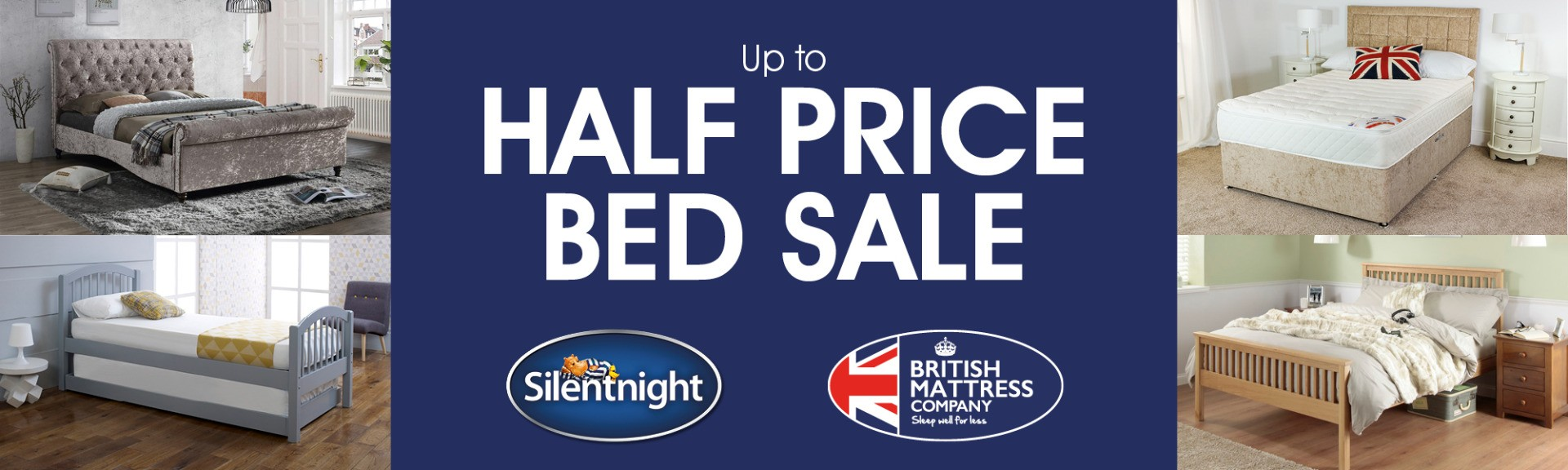 half price bed sale