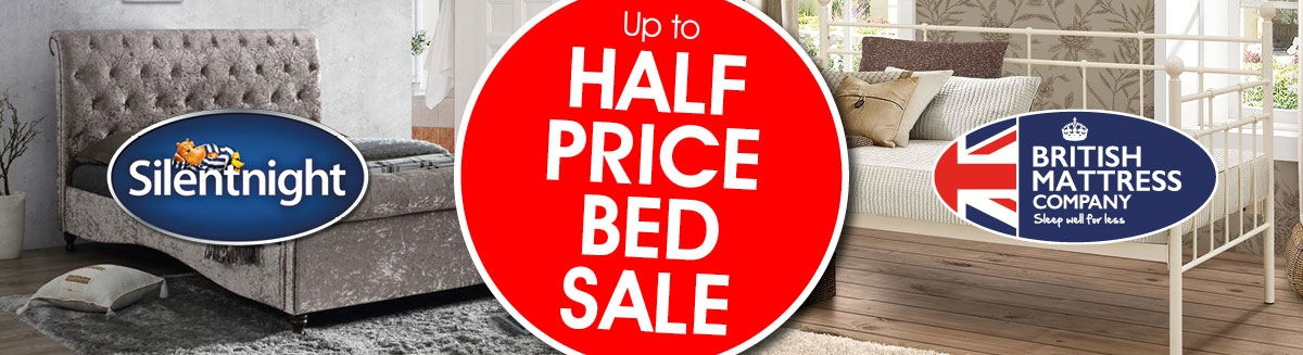 Up To Half Price Bed Sale