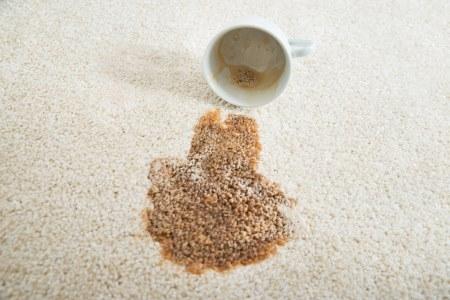 coffee spil on rug