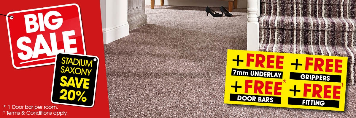 Big Sale - Stadium 20% Off + Free 7mm Underlay + Free Grippers + Free Door Bar + Free Fitting
