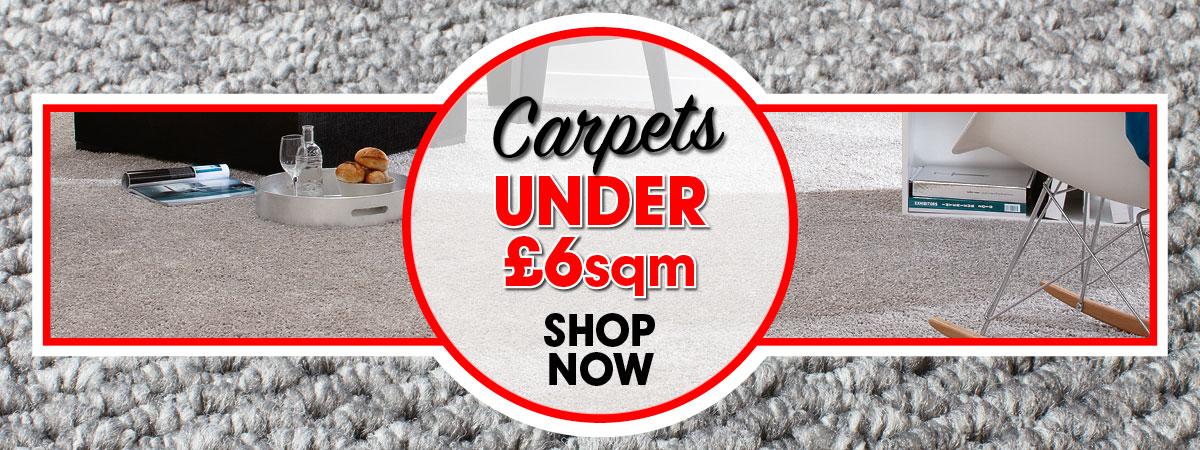 Carpets For Less Than £6 sqm