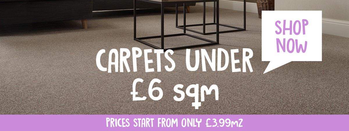 Carpets For Less Than £6 sqm