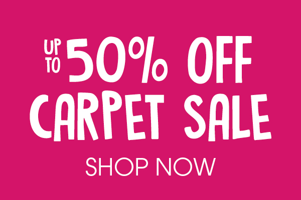50 per cent off carpet sale