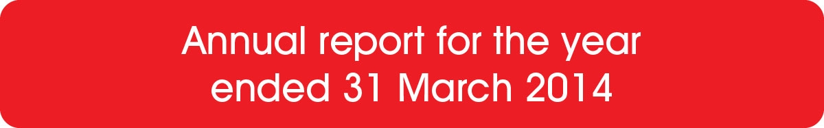 Annual report for the year ended 31 March 2014