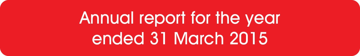 Annual report for the year ended 31 March 2015