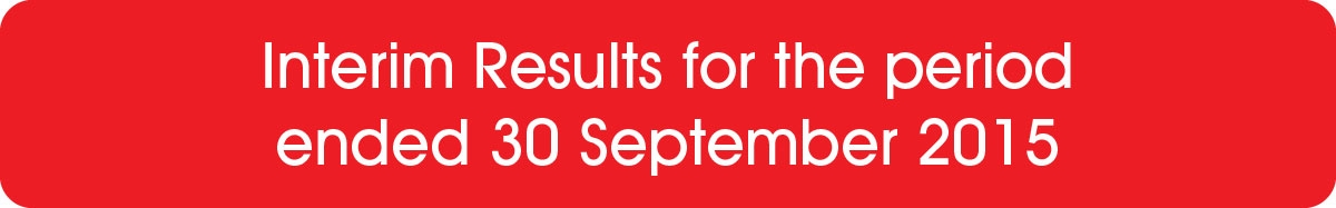 Interim Results for the period ended 30 September 2015