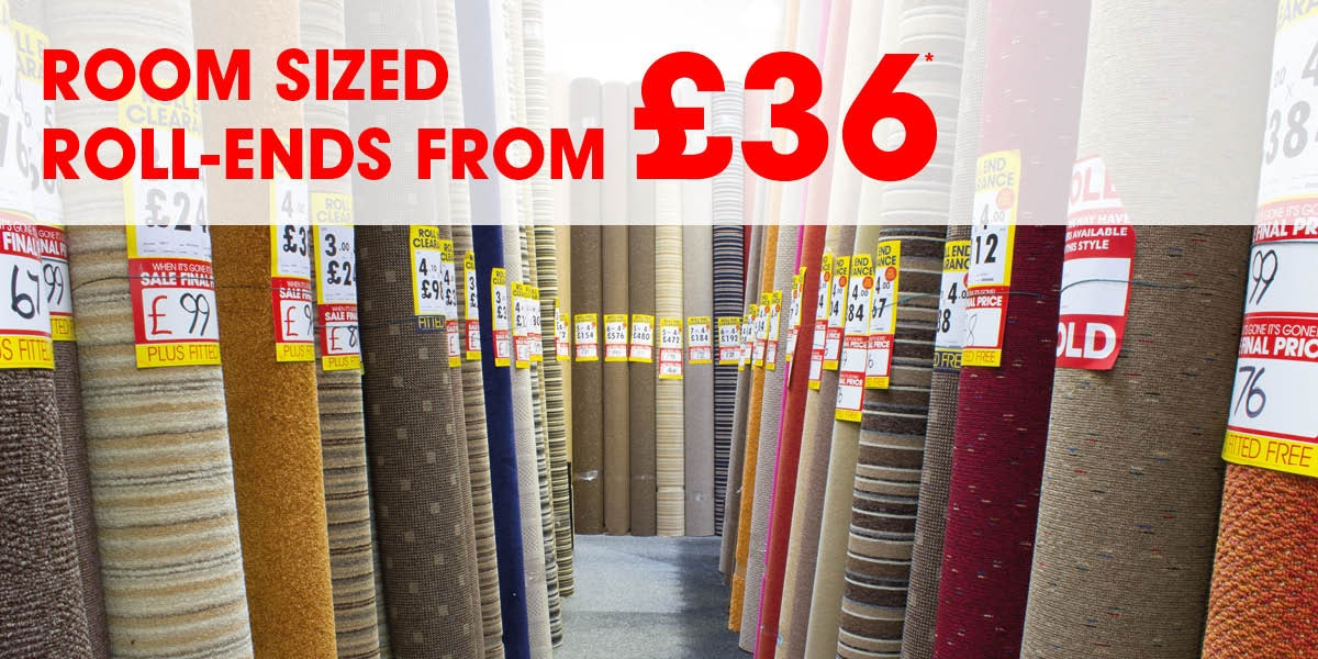 Room Sized Roll-End Carpets From Only £36*