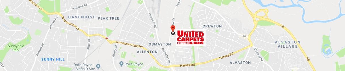 United Carpets And Beds, Ascot Drive, Derby, DE24 8ST